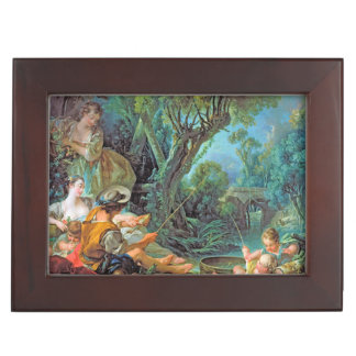 The Angler Boucher Francois rococo scene painting Keepsake Box