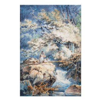 The Angler Joseph Mallord William Turner ART Poster