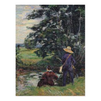 The Anglers, c.1885 Postcard