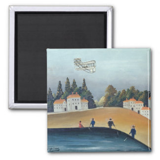 The anglers, c.1908-09 (oil on canvas) 2 inch square magnet