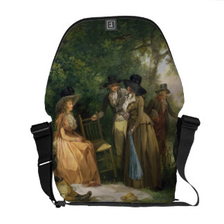 The Angler's Repast (oil on canvas) Courier Bag