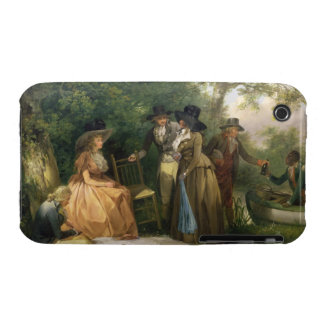 The Angler's Repast (oil on canvas) iPhone 3 Case