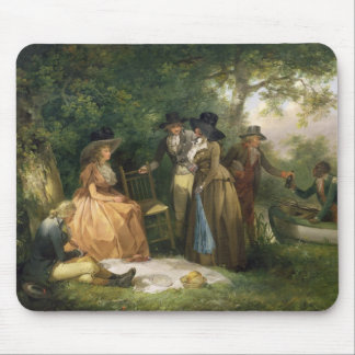 The Angler's Repast (oil on canvas) Mouse Pad