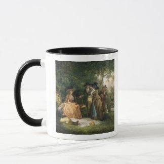 The Angler's Repast (oil on canvas) Mug