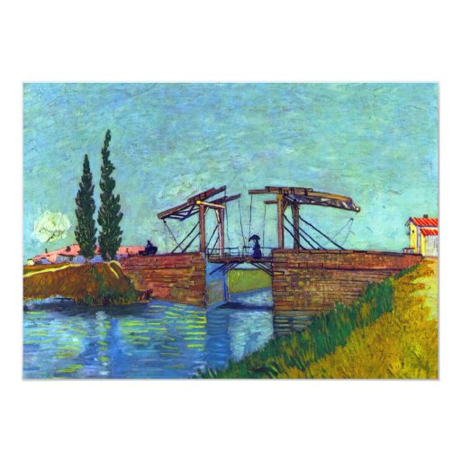 The Anglois Bridge at Arles  by Vincent van Gogh Announcements