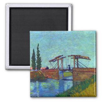 The Anglois Bridge at Arles  by Vincent van Gogh Refrigerator Magnet