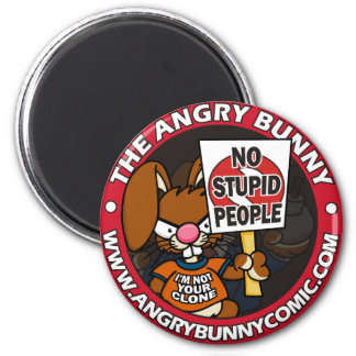 The Angry Bunny 2 Inch Round Magnet