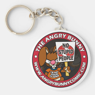 The Angry Bunny Key Chain