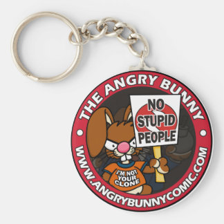 The Angry Bunny Keychain