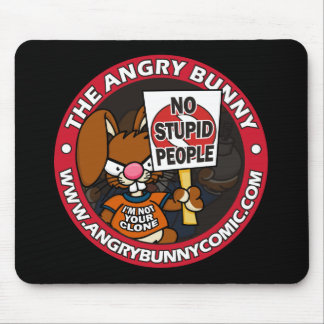The Angry Bunny Mouse Pad