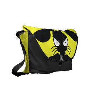 The Angry Bunny Silhouette Messenger Bag