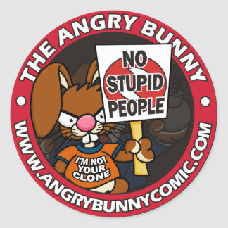 The Angry Bunny Sticker