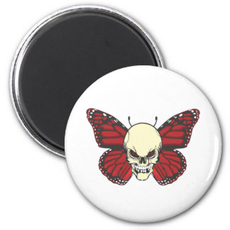 The Angry Butterfly of Blood Lust 2 Inch Round Magnet