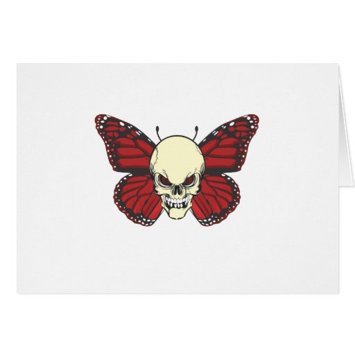 The Angry Butterfly of Blood Lust Greeting Card