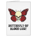 The Angry Butterfly of Blood Lust Greeting Cards