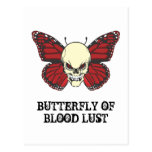 The Angry Butterfly of Blood Lust Post Card