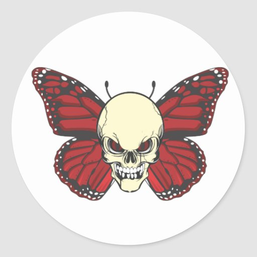 The Angry Butterfly of Blood Lust Classic Round Sticker