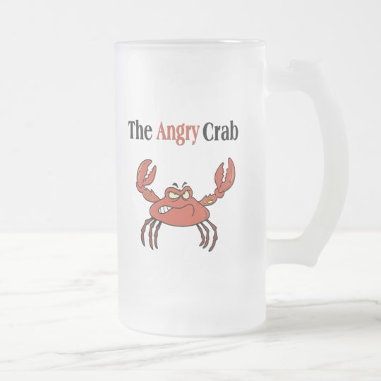The Angry Crab Frosted Glass Beer Mug