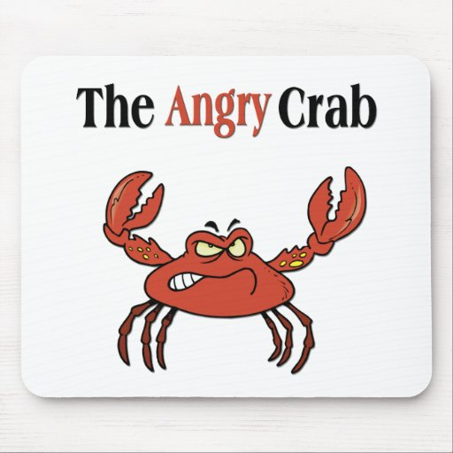 The Angry Crab Mouse Pad