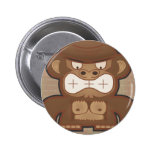 The Angry Donkey Monkey - Muted Pinback Buttons