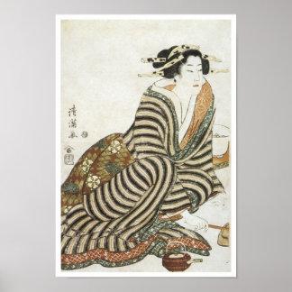 The Angry Drinker, Kiyomitsu II, 1830 Poster
