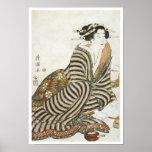 The Angry Drinker, Kiyomitsu II, 1830 Posters