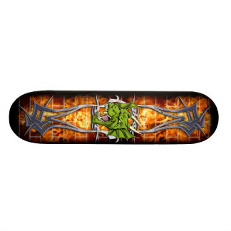 The Angry green dragon Skateboard
