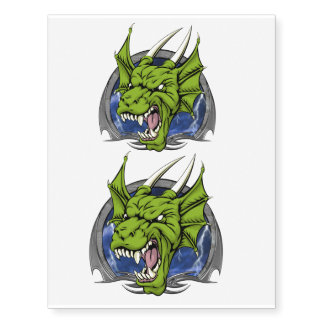 The Angry Green Dragon Temporary Tattoos