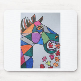 The Angry Horse Mouse Pads