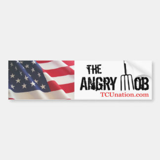 The Angry Mob 1 Car Bumper Sticker