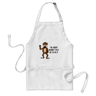 The Angry Monkey Told Me To Do It Adult Apron