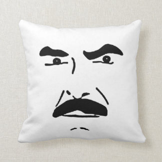 The angry mustache pillow