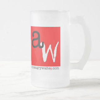 The Angry Waiter Beer Mug - Red Square