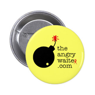 The Angry Waiter Button - Yellow