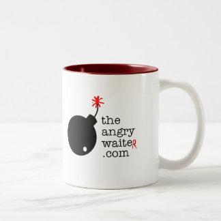 The Angry Waiter Coffee Mug - 15oz Side Logo