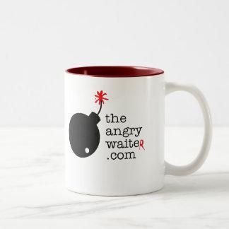 The Angry Waiter Coffee Mug - Two Tone Side Logo