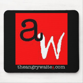 The Angry Waiter MousePad - Red/Black