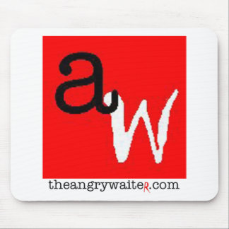 The Angry Waiter MousePad - Red/White