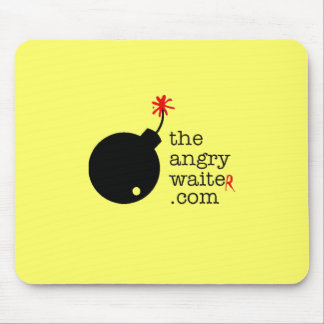 The Angry Waiter MousePad - Yellow w/Side Logo
