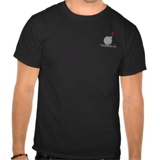 The Angry Waiter T-Shirt - Pocket Gray Bomb