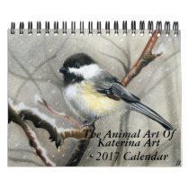 The Animal Art of Katerina Art 2017 wall calendar