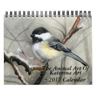 The Animal Art of Katerina Art 2017 wall calendar
