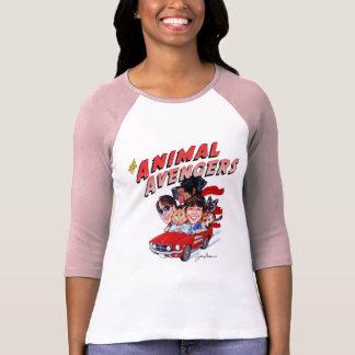 The Animal Avengers Large Logo 3/4 Raglan Shirt