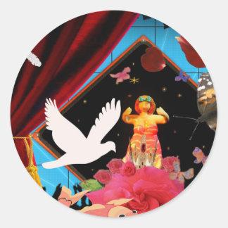 The animal magician classic round sticker