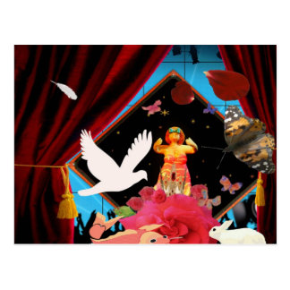 The animal magician postcard
