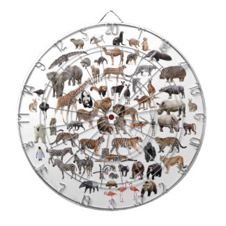The animal the large quantity the darts board whic dartboard