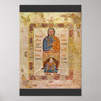 The Animal The Tetramorph Gospels Folio 5V By Thom Poster