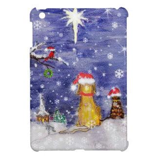 The Animals Christmas Even Watercolor Art iPad Mini Cover