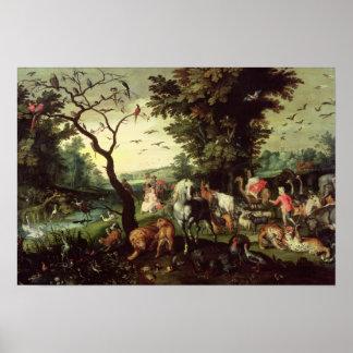 The Animals Entering Noah s Ark Print