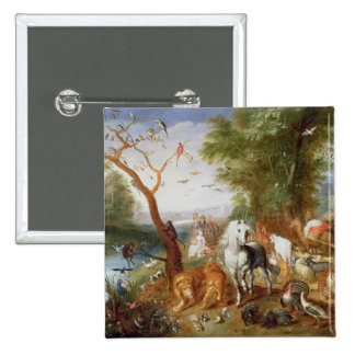 The Animals entering Noah's Ark 2 Inch Square Button